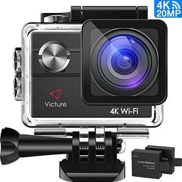 Action Kamera von Victure (4K, WiFi, 20MP und 2 Akkus)