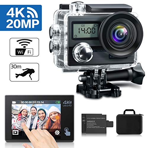 action cam von kamtron 4k 20 mp wifi 2 akkus. Black Bedroom Furniture Sets. Home Design Ideas