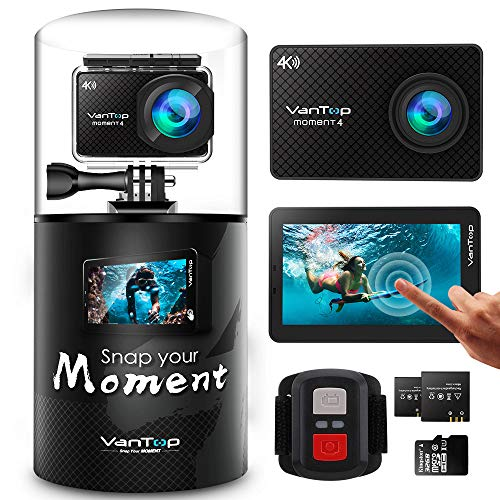action cam von vantop 4k display mit touchscreen 20. Black Bedroom Furniture Sets. Home Design Ideas